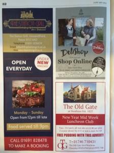 Apley Farm Shop's advert in County Woman, Jan 2015 issue