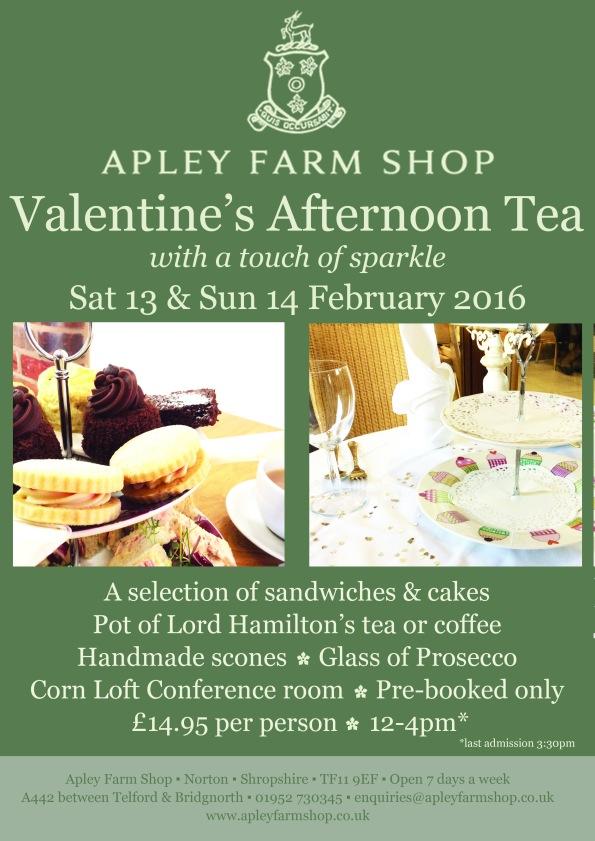 2016-01-26, Valentine's Afternoon Tea leaflet 12-4pm