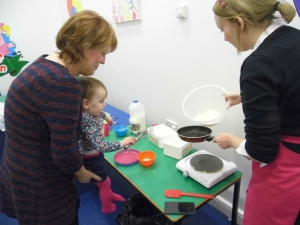 Pancake day in Pigg's Playbarn