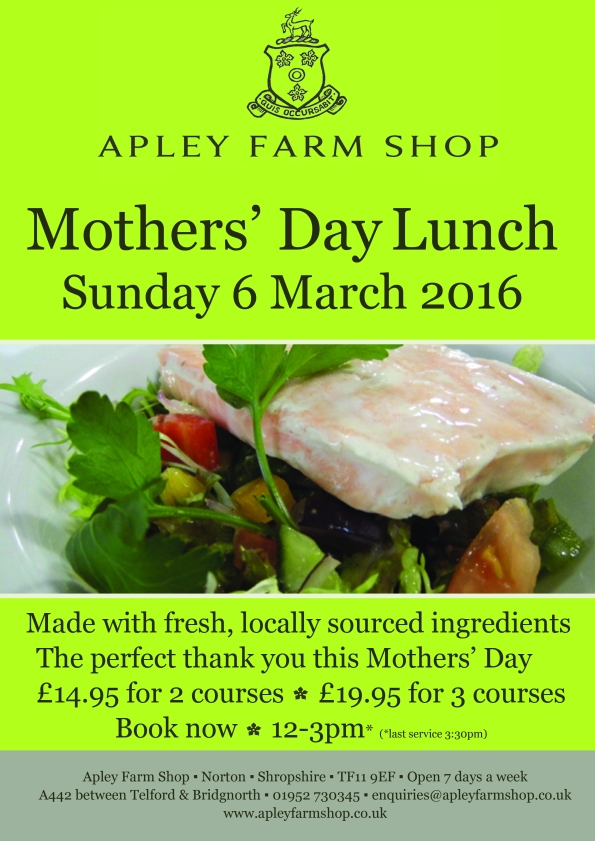 2016-02-26, Mother's Day Sunday lunch poster
