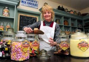 Blists Hill Victorian town, Sweet Shop's Gilly Clayton