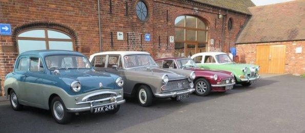 Members' cars at Apley Farm Shop