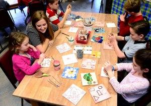 Jackfield Tile Museum tile decorating workshop 25