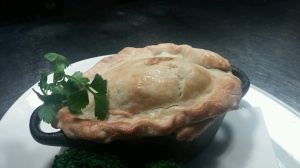 Steak, ale & kidney pies, fresh from the oven