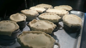 2016-03-09, Steak & kidney pies ready for oven, by Matt