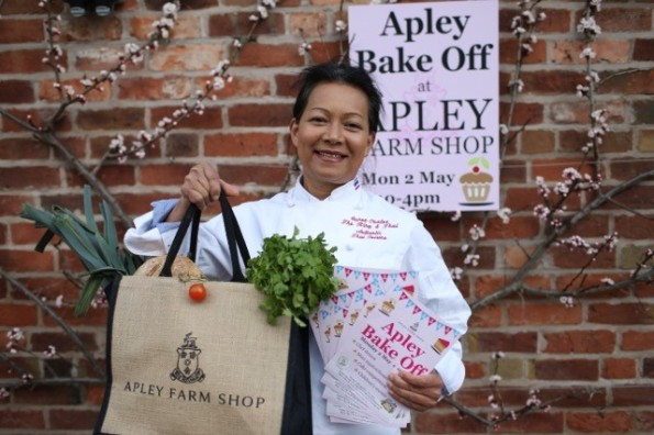 2016-03-15, Suree Coates promoting Apley Bake Off