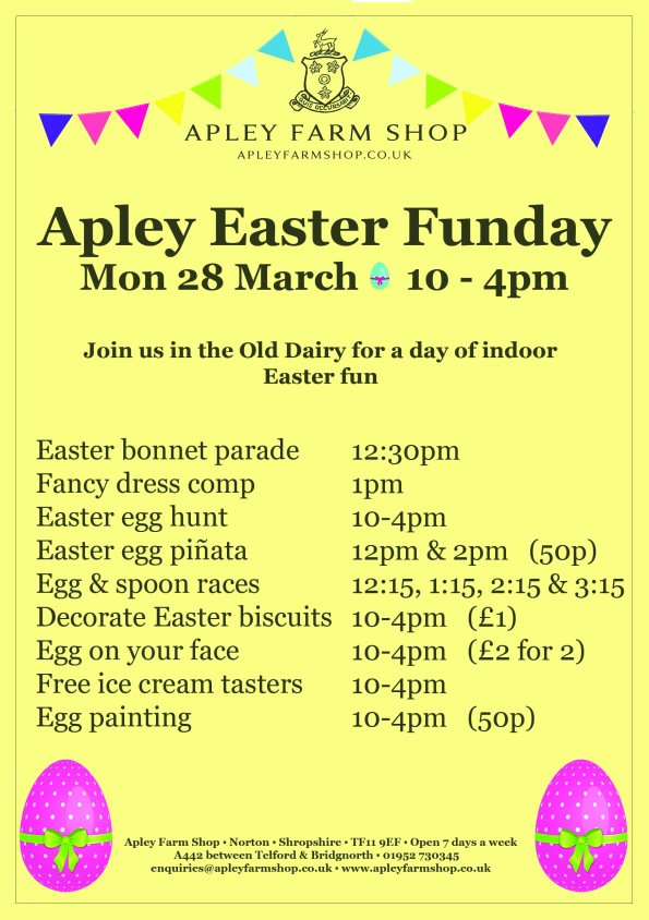 2016-03-23, Easter Funday programme, updated