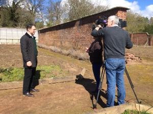BBC Midlands Today, Gavin being interviewed