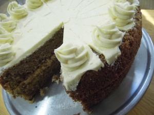 Lisa's Rhubarb & vanilla cake
