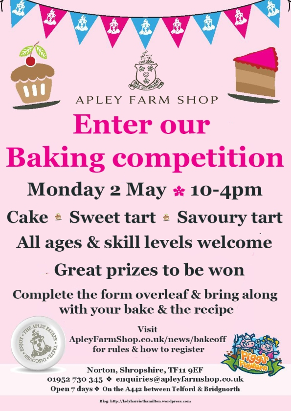 2016-04-06, Apley Bake Off baking competition flier
