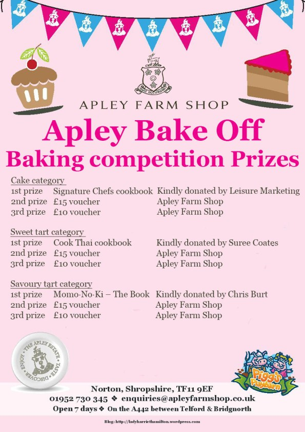 2016-04-18, Apley Bake Off baking competition prizes