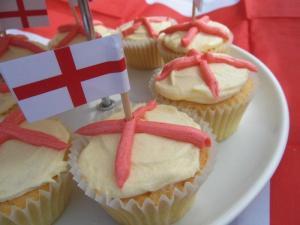 English flag cupcakes