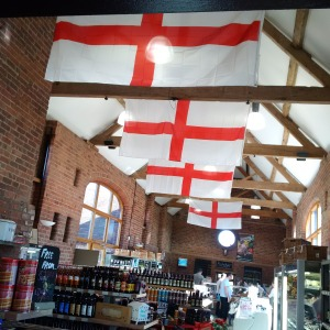 2016-04-23, St George's Day - Tina's flags