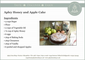 2016-11-04, Apley honey & apple cake recipe front