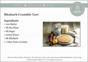 2016-11-04, Rhubarb crumble tart cake recipe front