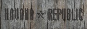 Chris Burt logo, Havana Republic on wood