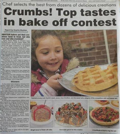 2016-05-04, Shropshire Star - Crumbs! Top tastes in bake off contest