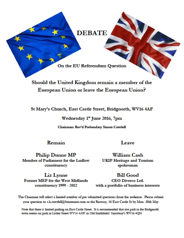 2016-05-23, Eu Referendum debate 1 June