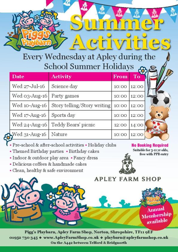 2016-07-12, PPB - Summer Activities A5 leaflet, jpeg front