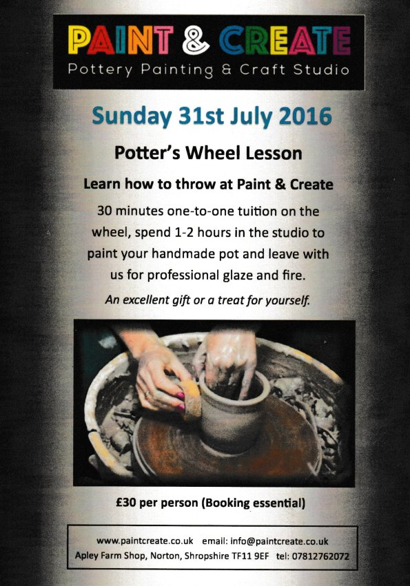 2016-07-26, Paint & Create leaflet, Potter's Wheel lesson 001