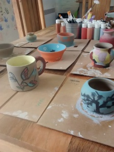 2016-07-31, Potter's Wheel Day at Paint & Create (1)