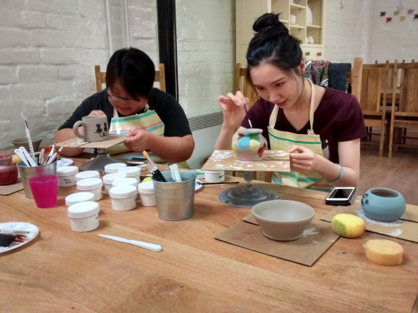 2016-07-31, Potter's Wheel Day at Paint & Create (3)