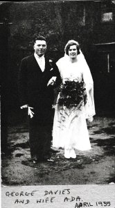 2016-08-21, George Davies & wife Ada, April 1935