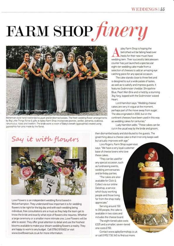 2016-09-05, Wolverhampton Magazine wedding cheese cake 001