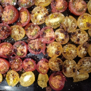 Aga dried heritage tomatoes from Apley Walled Garden