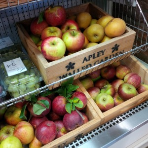 9 varieties of homegrown, Apley Estate apples