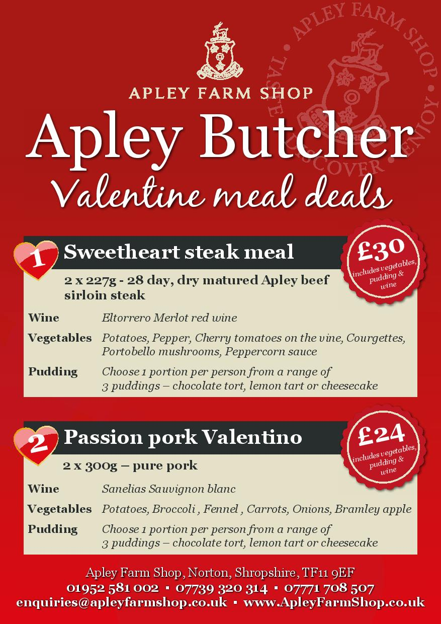 Meal deals valentines day