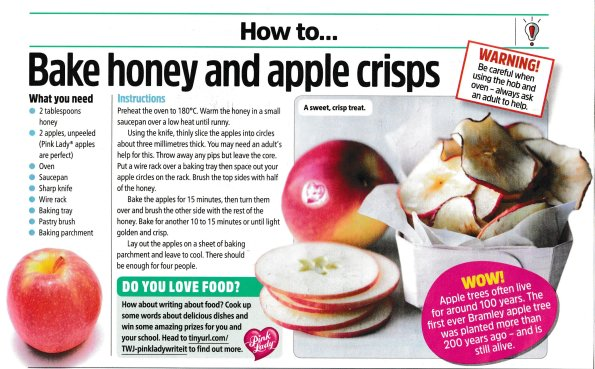 How to make honey & apple crisps, The Week Junior