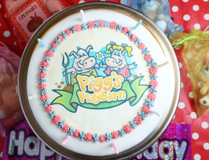 Pigg's Playbarn birthday cake