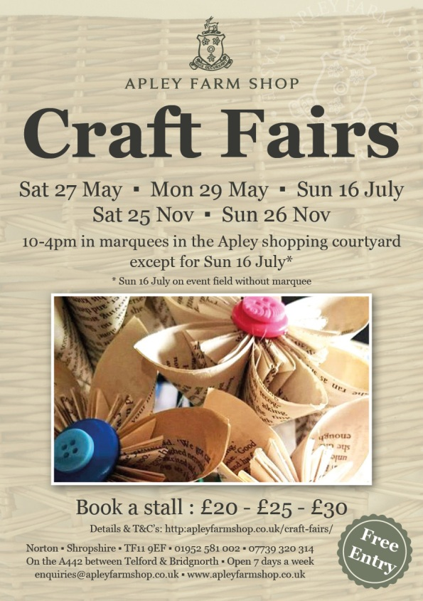 Craft Fairs leaflet