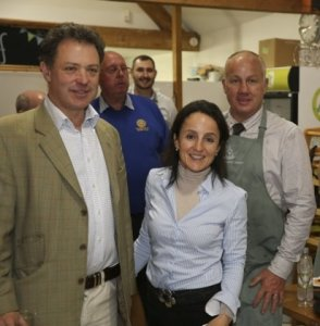 Gavin & I (Lord & Lady H) with Apley Farm Shop's General Manager John Wesley