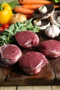 Venison leg steaks £9.95 per kg