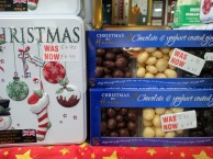 Some reduced price Christmas biscuits & chocolates